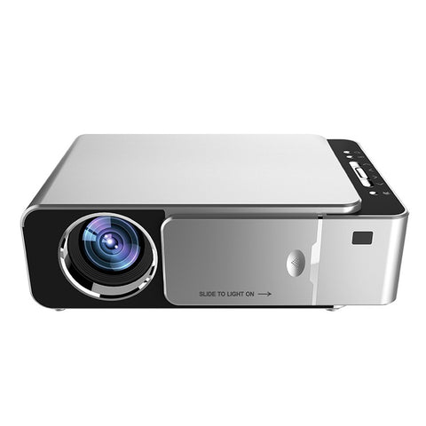 3000 Lumen LED WIFI Multimedia Projector - AV TV VGA HDMI USB SD Compatible - Silver Black