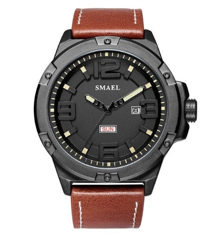 Smael Men's Analog Sport Watch - Brown