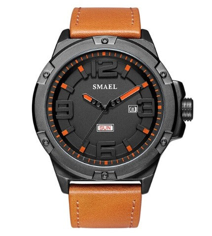 Smael Men's Analog Sport Watch - Tan