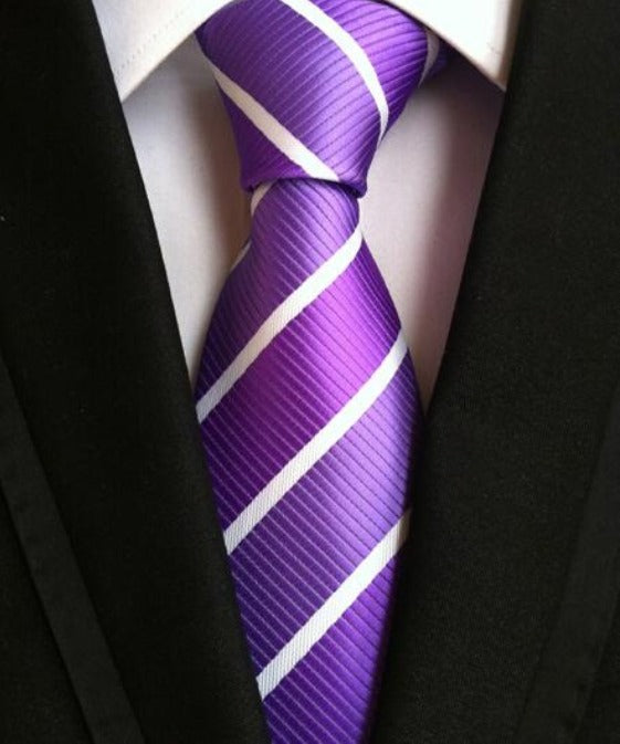 Men's Neck Ties - Purple NT103