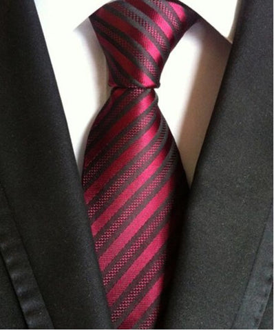 Men's Neck Ties - Wine Red NT216