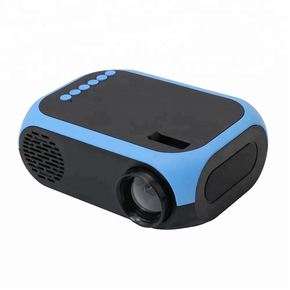 HD 1080P LED Multimedia Mini Projector - 600Lumen - Blue