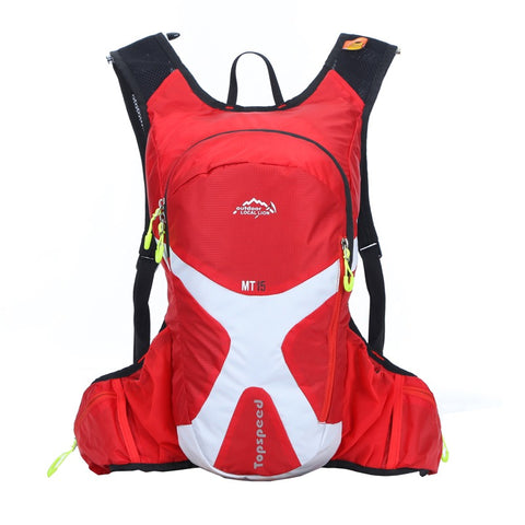 8L Backpack Hydration System Water Bag with FREE 1.5L Bladder -Red
