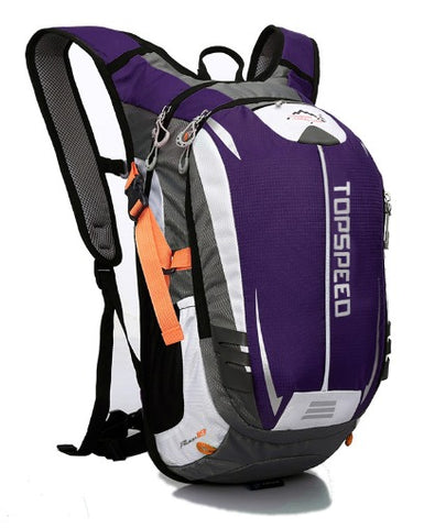18L Backpack Hydration System Water Bag with FREE 1.5L Bladder - Purple