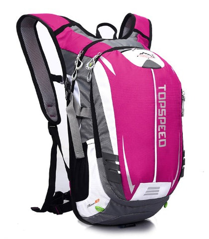 18L Backpack Hydration System Water Bag with FREE 1.5L Bladder - Pink