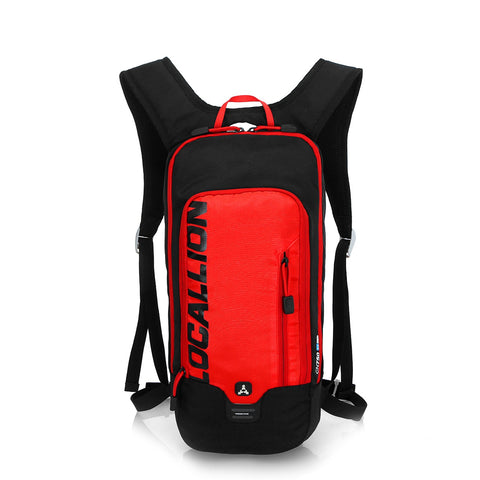 8L Slimlite Backpack Hydration System Water Bag with FREE 1.5L Bladder - Red/Black