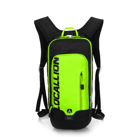 8L Slimlite Backpack Hydration System Water Bag with FREE 1.5L Bladder - Green/Black