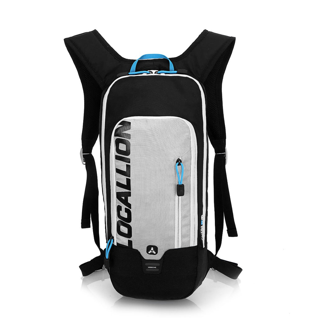 8L Slimlite Backpack Hydration System Water Bag with FREE 1.5L Bladder - Grey/Black