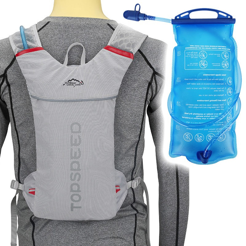5L Backpack Hydration System Water Bag with FREE 1.5L Bladder -Grey