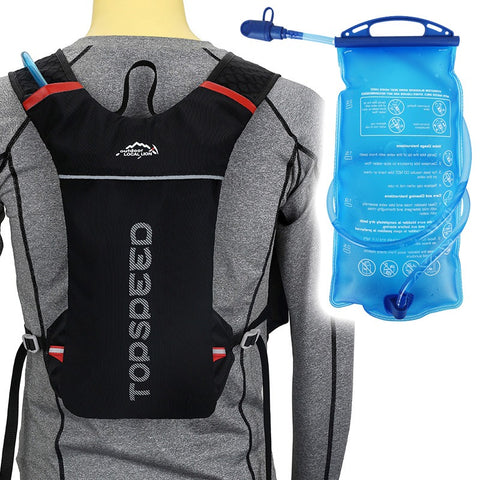 5L Backpack Hydration System Water Bag with FREE 1.5L Bladder -Black