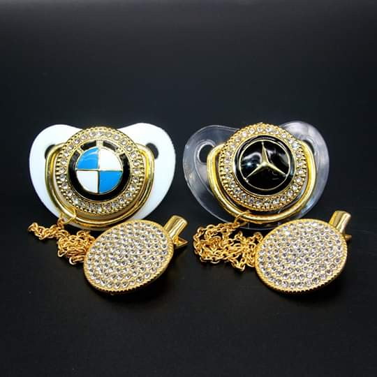 Baby Bling Dummy Pacifier - Mercedes Benz