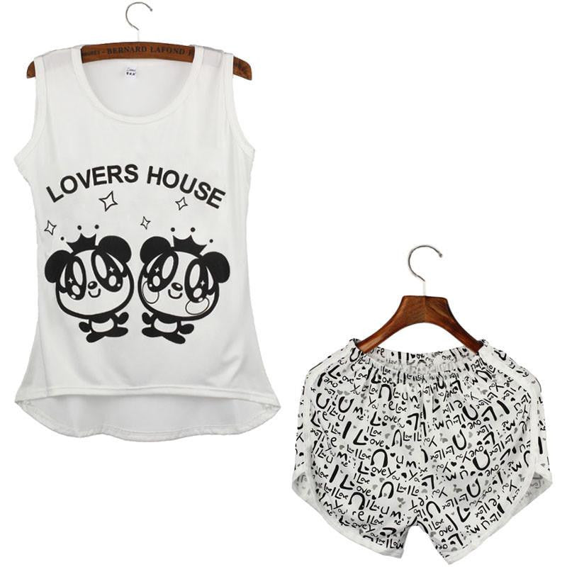 Ladies Pyjamas - Sleeveless Top and Shorts