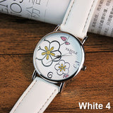 Ladies Flower Wrist Watch - 10 colours