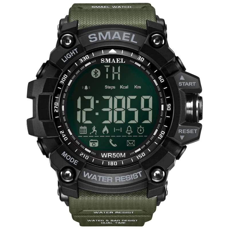 Smael Multifunctional Bluetooth Watch - Green