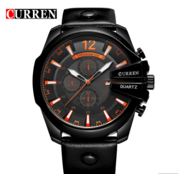 Men's Business Casual Curren Watches - Black Black