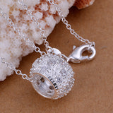 Crystal Ball Pendant Necklace