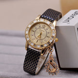Ladies Diamond Charm WristWatch - 5 Colours