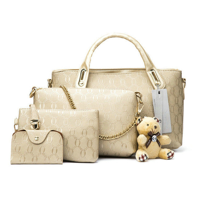 Ladies 4pc Handbag Set