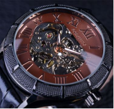 Automatic Skeleton Mechanical Watches -  Black