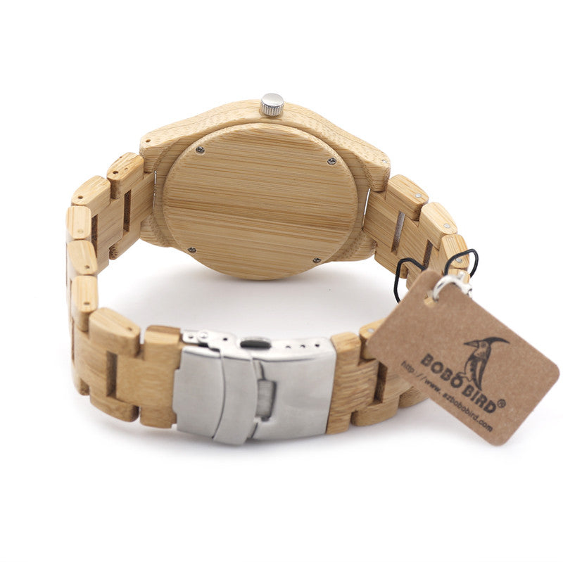 Men's Bamboo Handcrafted Watch - Bamboo Links