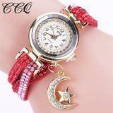 Ladies Moon Star Pendant Watch