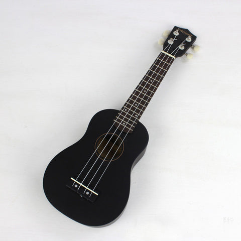 Guitar: Acoustic Soprano Ukulele Musical Instrument - Black