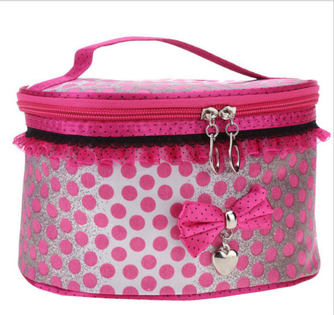 Travel Organiser Toiletry Cosmetic Bag - Pink