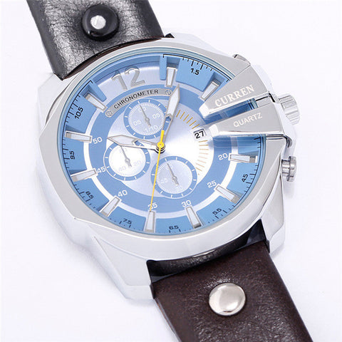 Men's Business Casual Curren Watches - Blue