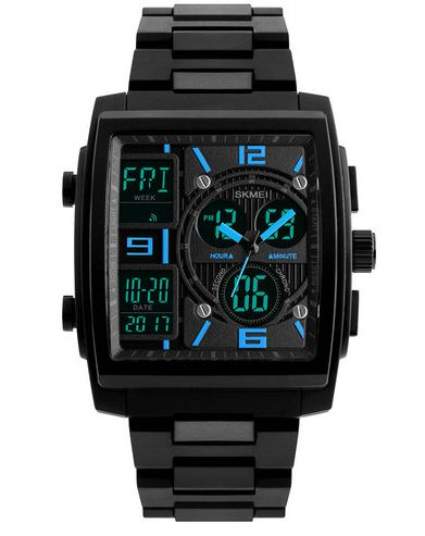 Men's Rectangle Watch - SKMEI
