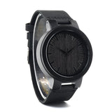 Men's Bamboo Handcrafted Watch - Black