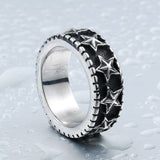 Men's Stainless Steel Star Rings