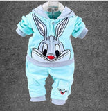 Babies 2pc Clothes Set Bunny Rabbit Blue - 12months