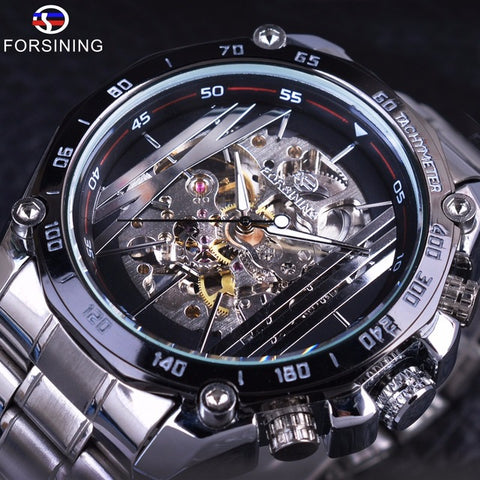 Automatic Skeleton Mechanical Watches - Cage - Black