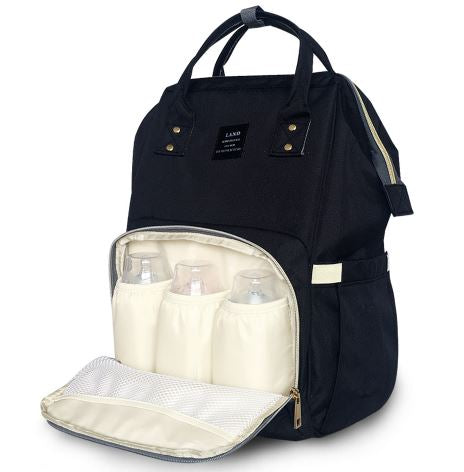 Baby Diaper Waterproof Travel Nappy Bag - black