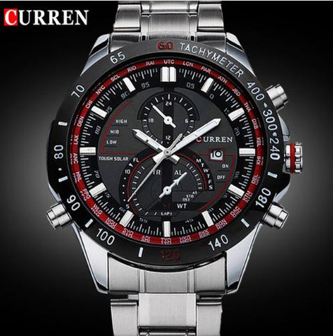 Men's Business Casual Curren Watches - Red