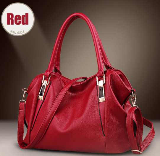 Ladies Cross Body Handbag - Red