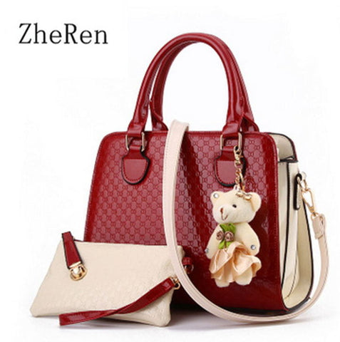 Ladies Handbag and Purse - Red