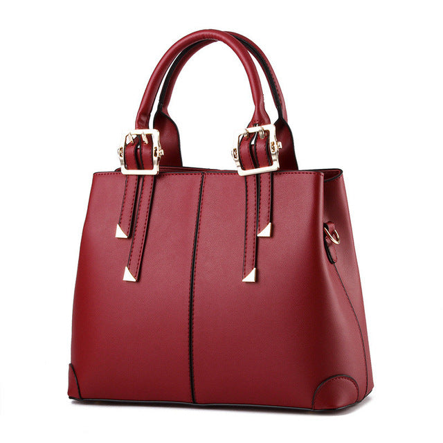 Ladies Tote Hand Bag - Wine Red (Flawed)