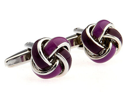 Knot Cuff Links - purple
