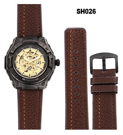 Automatic Skeleton Mechanical Watches - Retro - Brown