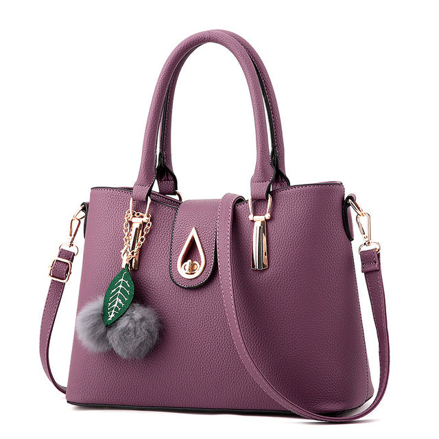 Ladies Tassel Pendant Hand Bag - Deep Purple