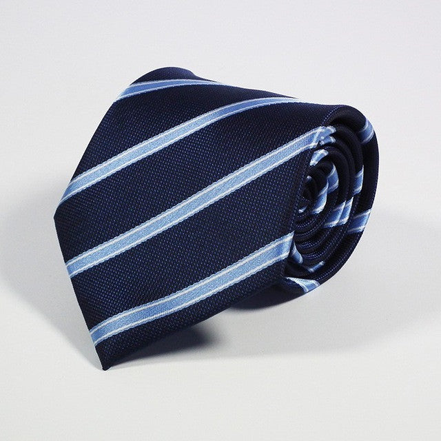 Men's Ties - Blue Stripe
