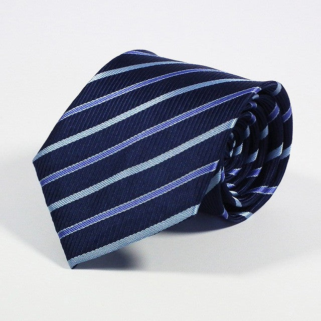 Men's Silk Ties - Blue Stripe