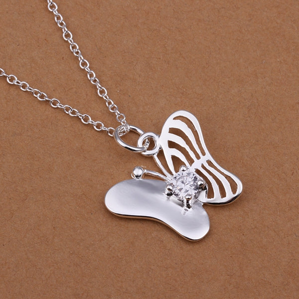 Butterfly Stone Pendant Necklace