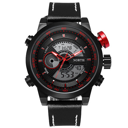 Men's Dual Display LED Watch - Red
