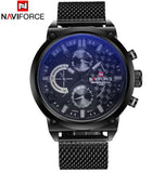 Men's Naviforce Stainless Steel Mesh Band Watch - 4 Styles