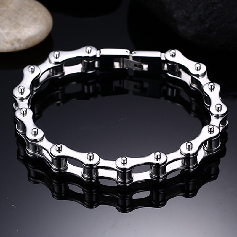 Men's Stainless Bicycle Chain Bracelet - 12mm