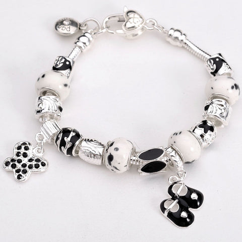 Lucky Shoes Charm Bracelet - Black