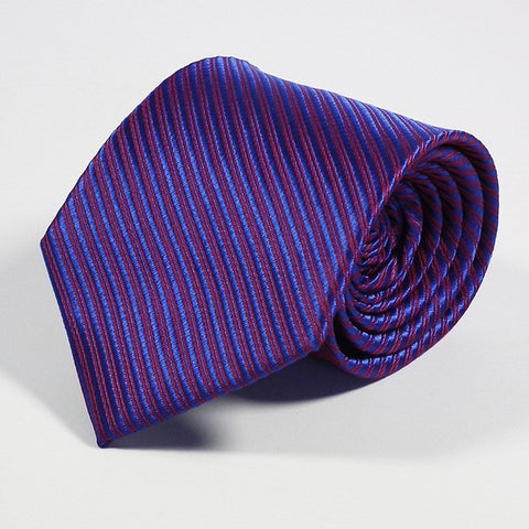 Men's Ties - Purple Stripe