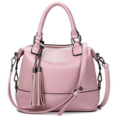 Ladies Cross Body Bucket Handbag - Pink